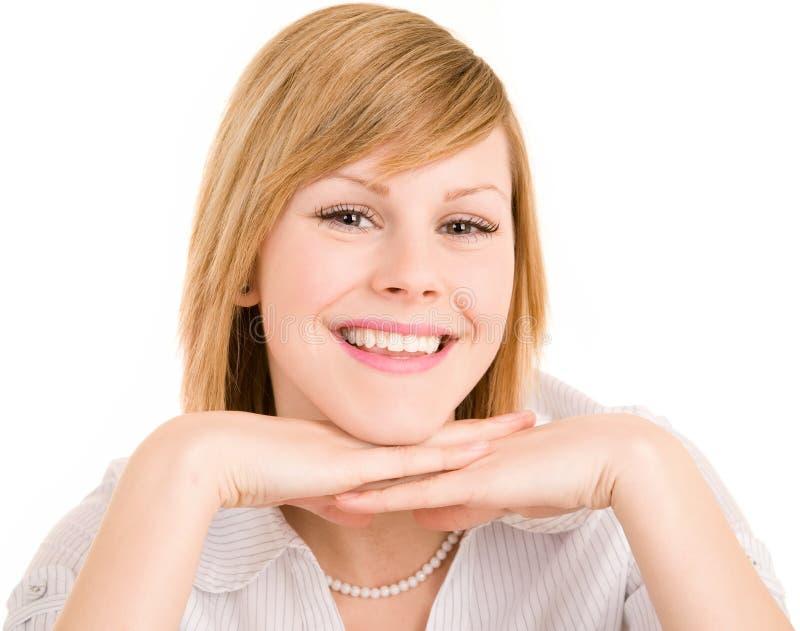 Het glimlachende Jonge Meisje van de Blonde royalty-vrije stock foto