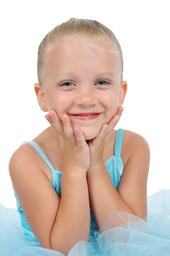 Het glimlachende Meisje van de Ballerina stock fotografie