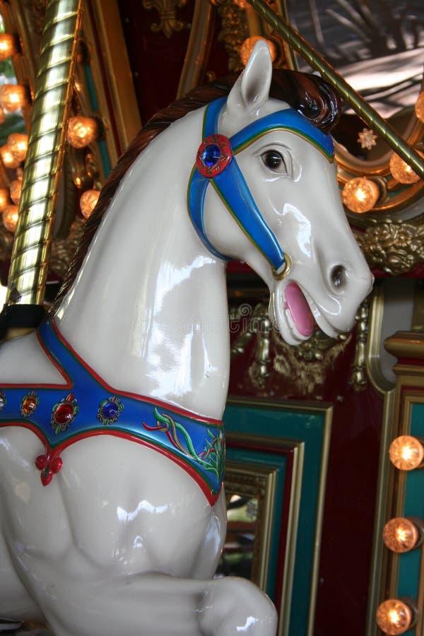 Het glimlachende Paard van de Carrousel royalty-vrije stock afbeelding