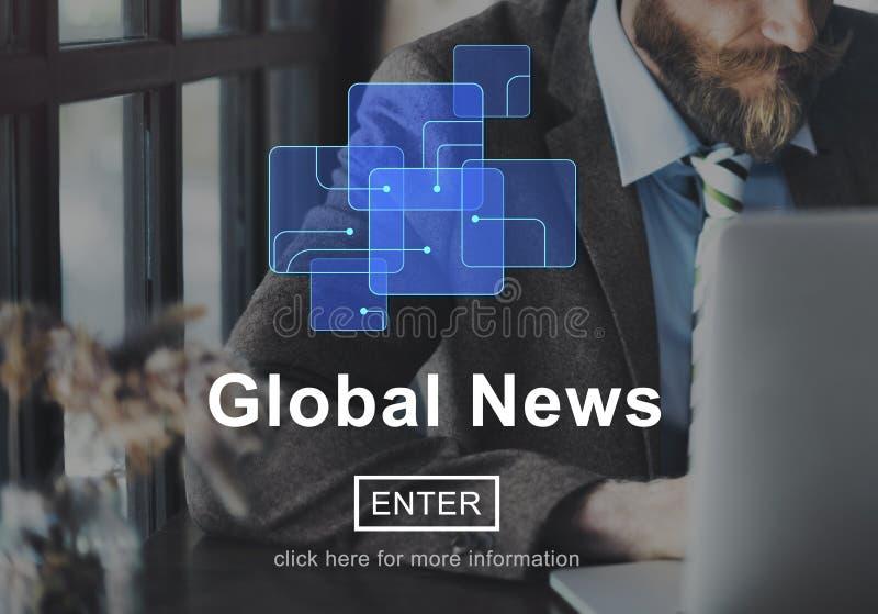 Het globale Concept van de de Updateinformatie van de Nieuws Online Technologie royalty-vrije stock afbeelding
