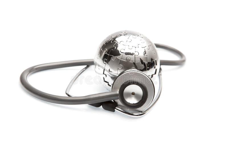 Het globale concept van de Gezondheidszorg en van de Geneeskunde stock afbeelding