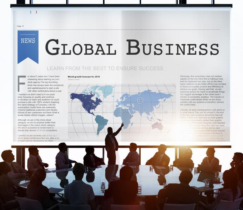 Het globale Concept van de het Voorzien van een netwerkgroei van de Bedrijfs de Uitvoerinvoer royalty-vrije stock foto