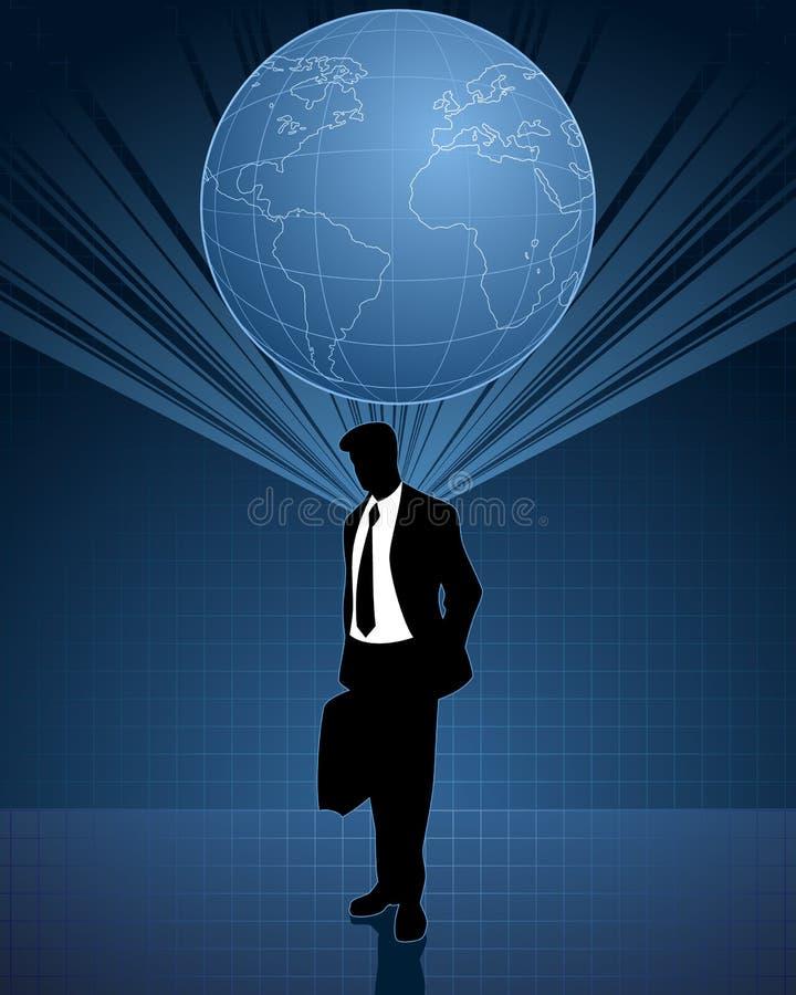 Het globale denken in zaken vector illustratie