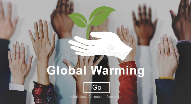 Het globale het Verwarmen Concept van de Klimaatverandering Milieuwebsite stock foto's