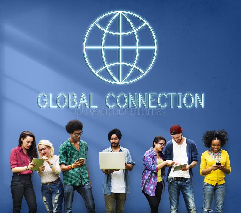 Het globale Internationale Concept Wereldwijd van de Verbindingswereld royalty-vrije stock afbeelding