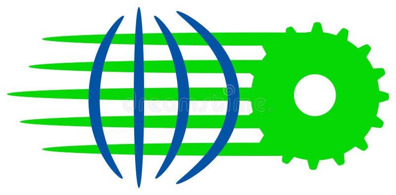 Het globale netto werk vector illustratie