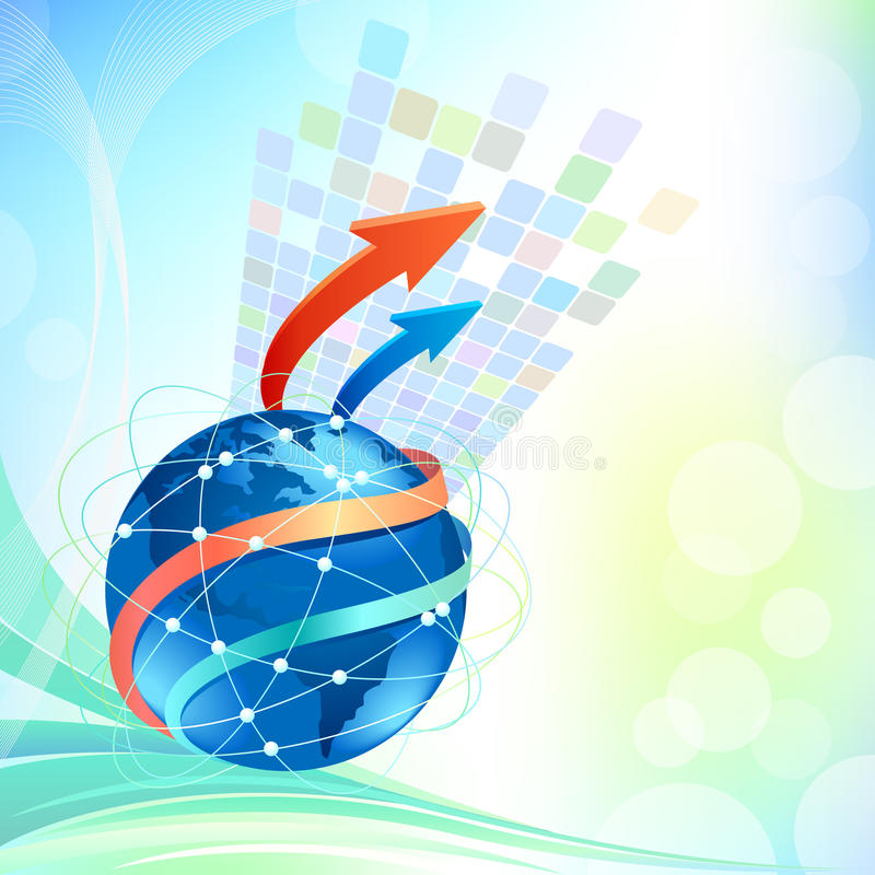 Het globale Ontwerp Bedrijfs van de Brochure stock illustratie