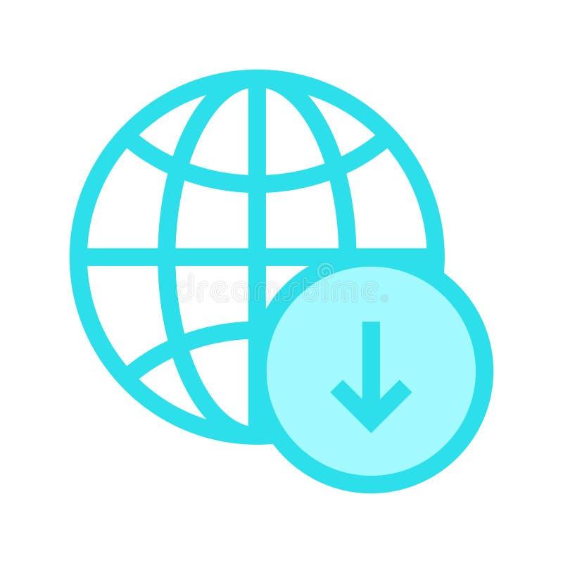 Het globale pictogram van de downloadrassenbarrière royalty-vrije illustratie
