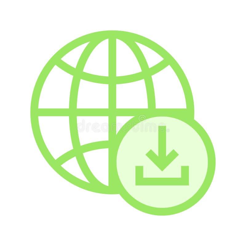 Het globale pictogram van de downloadrassenbarrière vector illustratie