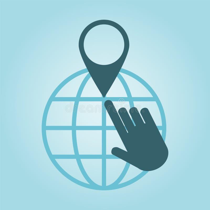 Het globale plaatsen royalty-vrije illustratie