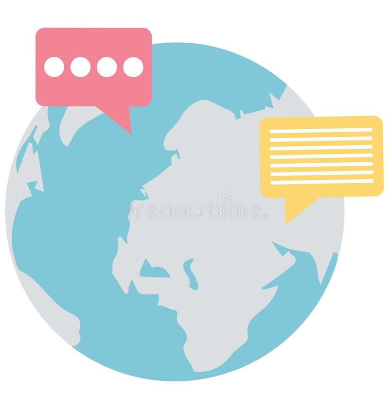 Het globale praatje, globaal Geïsoleerd gesprek dat kan gemakkelijk zijn geeft uit of wijzigde zich royalty-vrije illustratie
