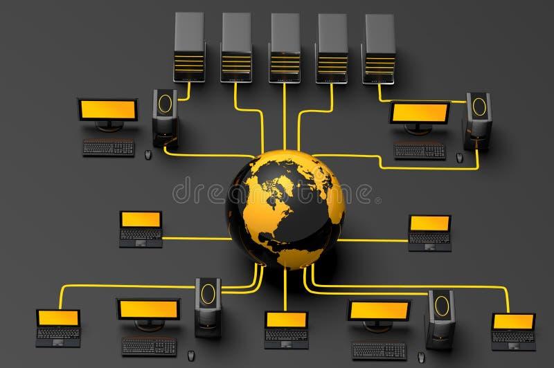 Het globale Verkeer van het Netwerk royalty-vrije illustratie