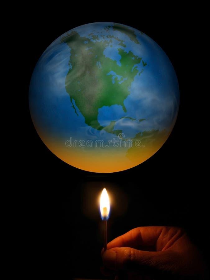 Het globale Verwarmen royalty-vrije stock afbeeldingen
