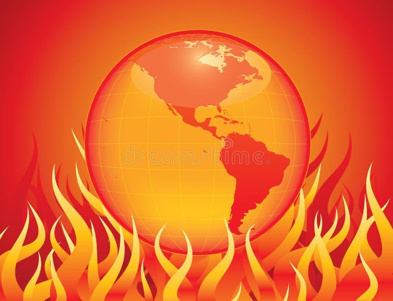 Het globale Verwarmen stock illustratie