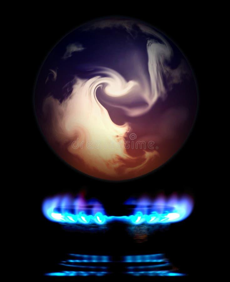 Het globale Verwarmen royalty-vrije illustratie