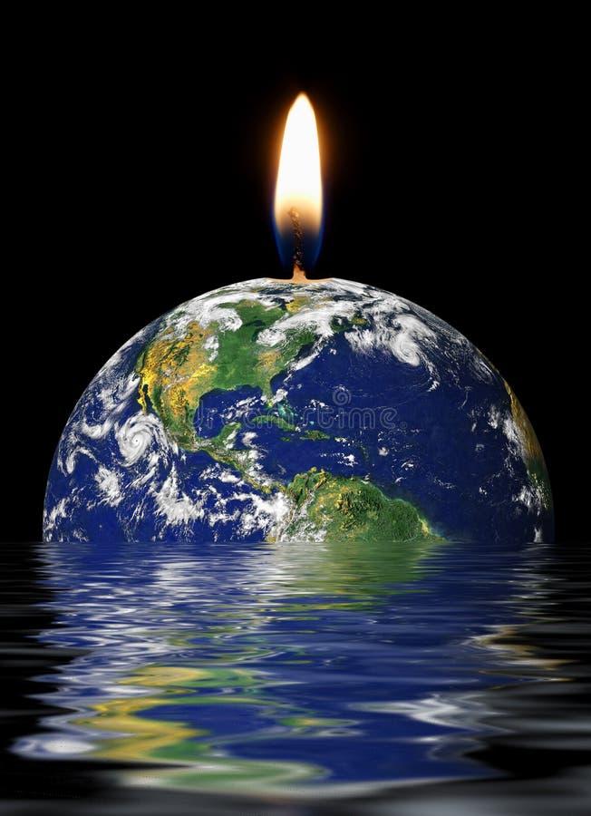 Het globale verwarmen royalty-vrije stock afbeelding