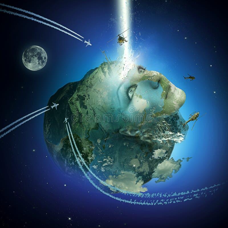 Het globale Wekken Kaliberbepaling van de Aarde royalty-vrije stock afbeeldingen