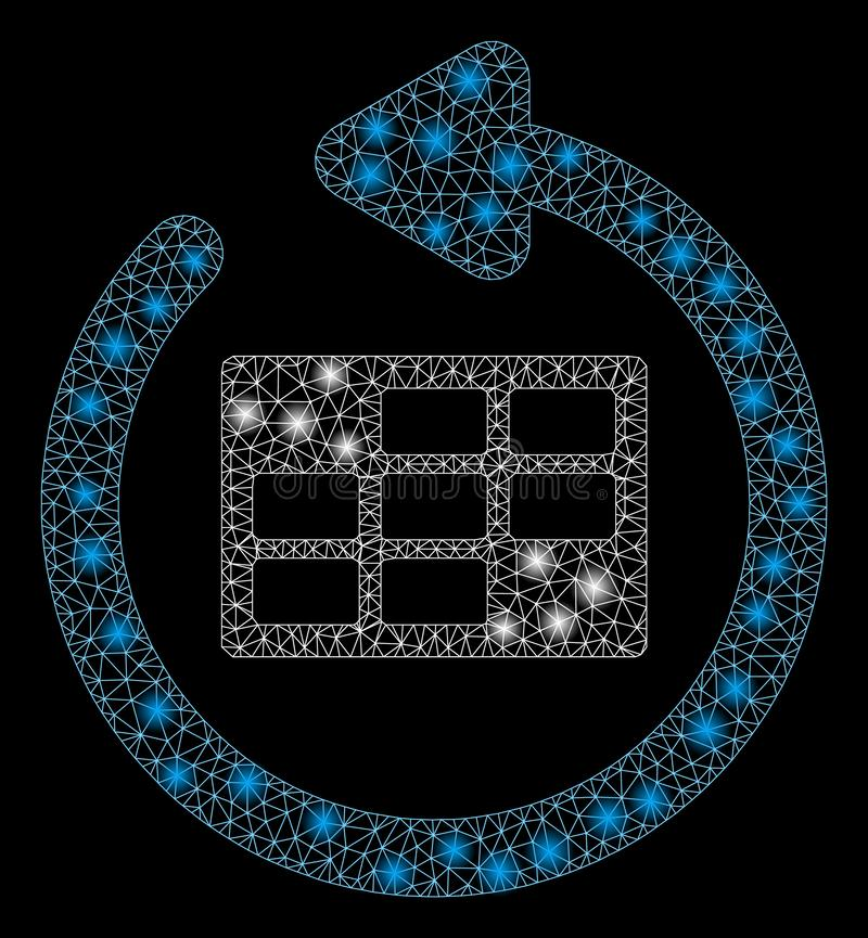 Het gloednetwerk tweede verfrist Kalenderlijst met Gloedvlekken royalty-vrije illustratie