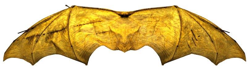 Het gloeien Geïsoleerden BatWings stock afbeelding