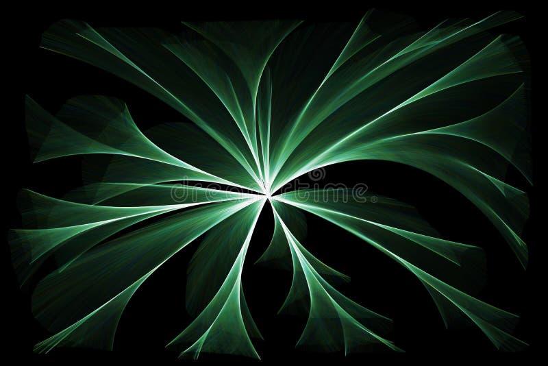 Het gloeien groene lichten stock illustratie