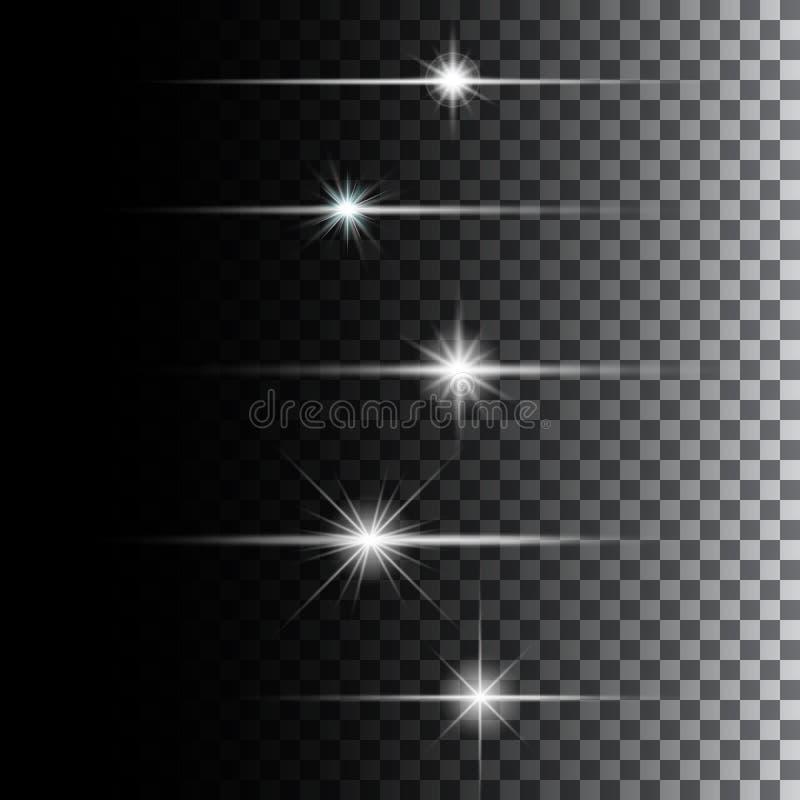 Het gloeien lichten en sterren vector illustratie