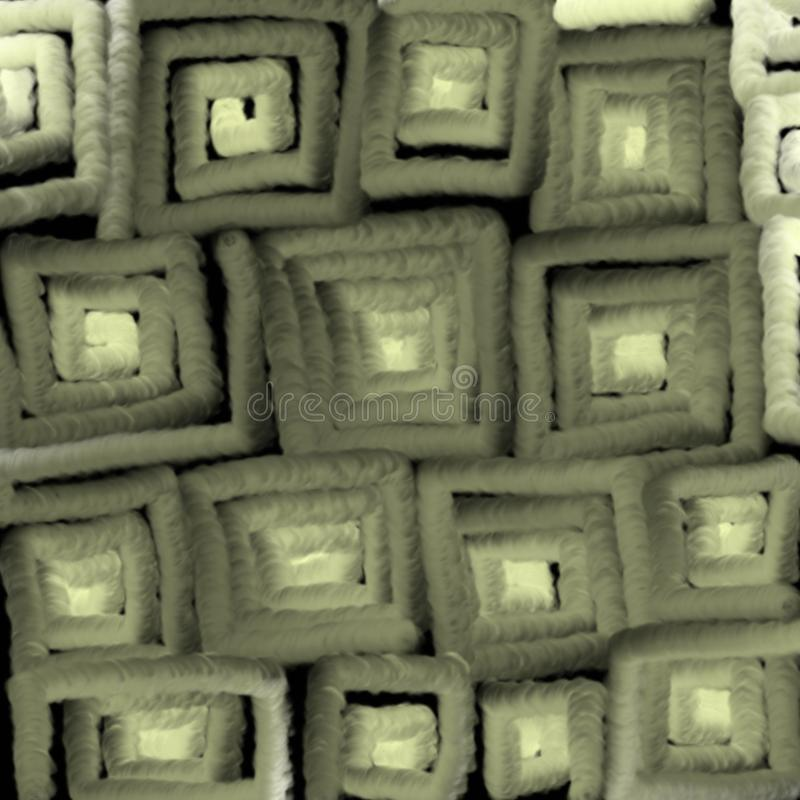 Het gloeien textuur van grijze vierkanten, abstractie voor een achtergrond royalty-vrije illustratie
