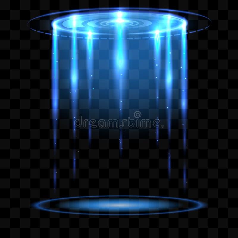 Het gloeien UFO vectorillusrtation royalty-vrije illustratie