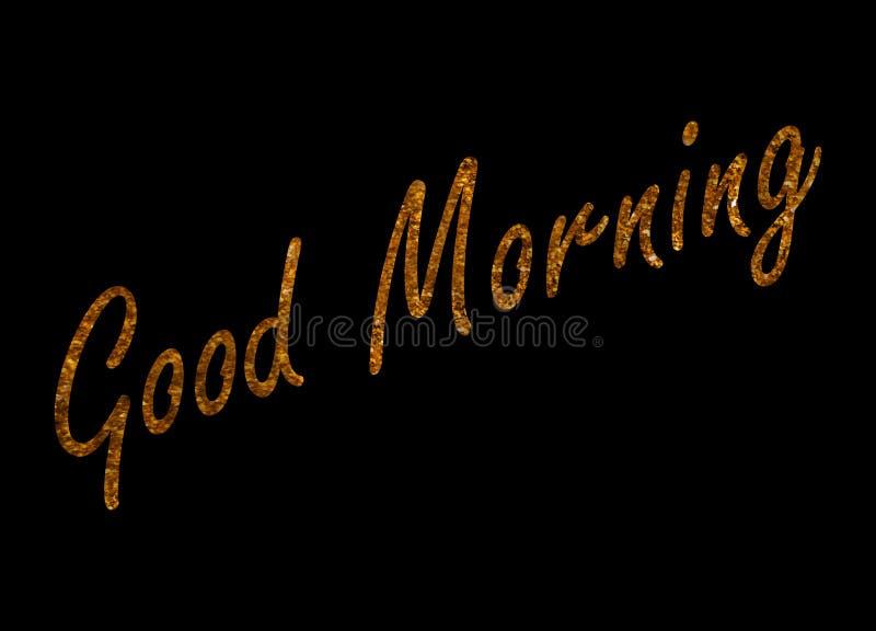 Het GOED ochtend-inspireert motievencitaat Hand het getrokken mooie van letters voorzien Druk voor inspirational affiche vector illustratie