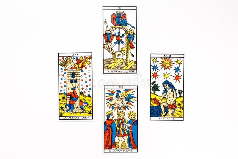 Het goed van de tarotkaart trekt royalty-vrije illustratie
