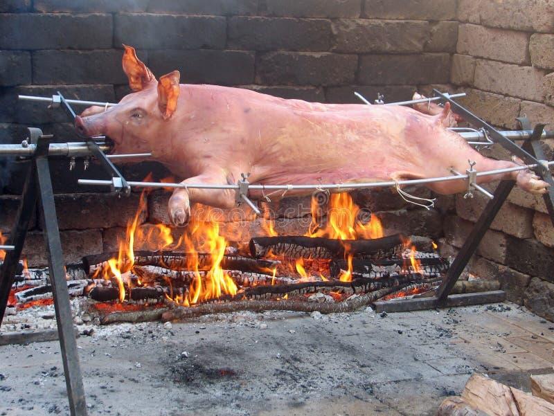 Het goede gekookte varkensvlees is langzaam royalty-vrije stock foto