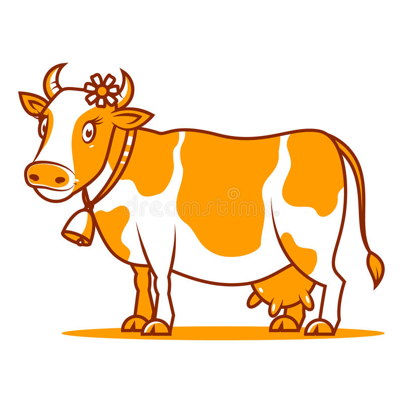 Het goede koe glimlachen royalty-vrije illustratie