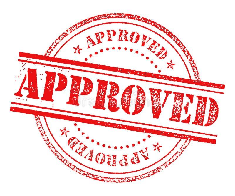 Het goedgekeurde Teken van het Zegelpictogram royalty-vrije illustratie