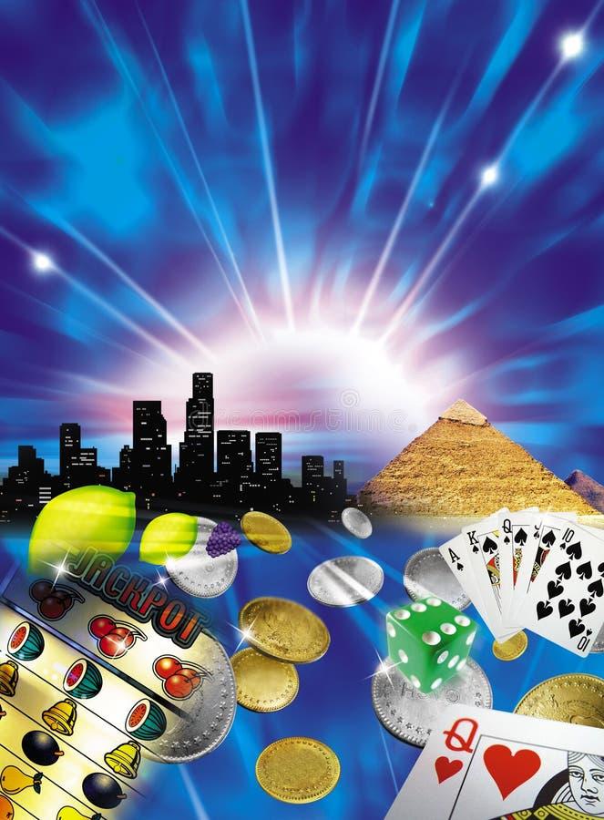 Het gokken royalty-vrije illustratie