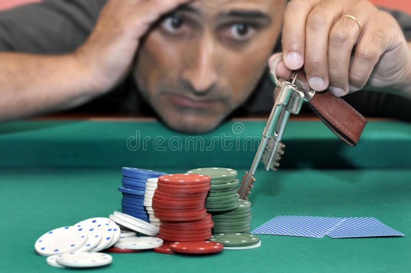 Het gokken stock foto's
