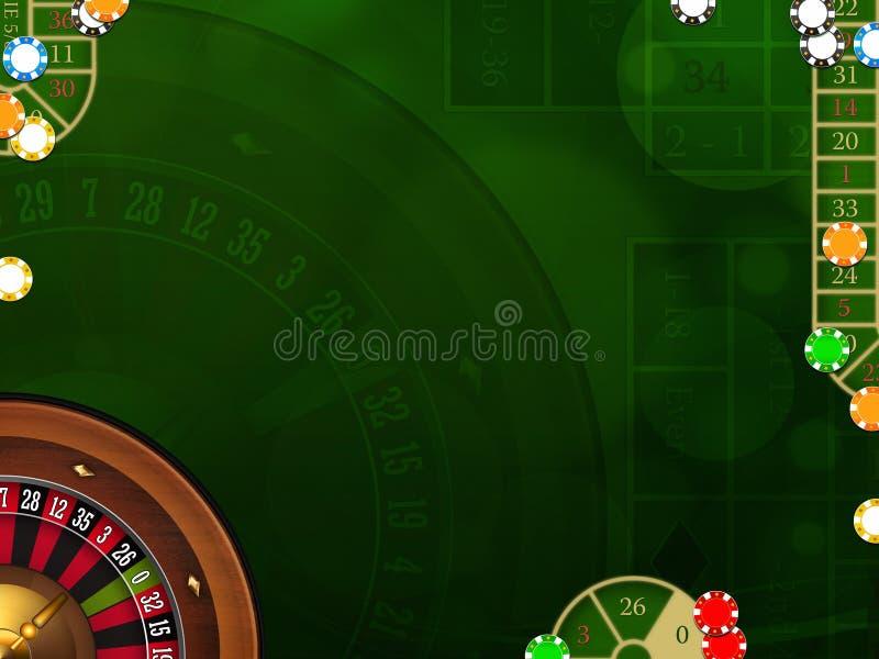 Het gokken achtergrond met casinoelementen stock illustratie