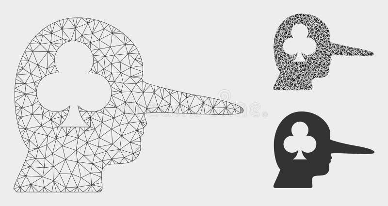 Het gokken 2D Model van het Schok het het Vectornetwerk en Pictogram van het Driehoeksmozaïek stock illustratie
