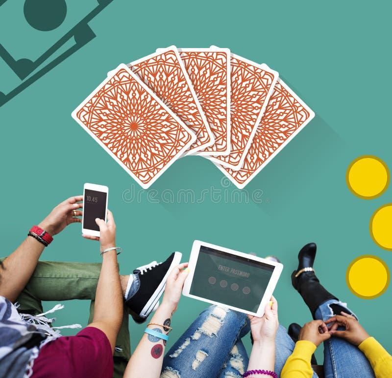 Het gokken het Concept van de het Risicoweddenschap van de Gelukpot stock foto