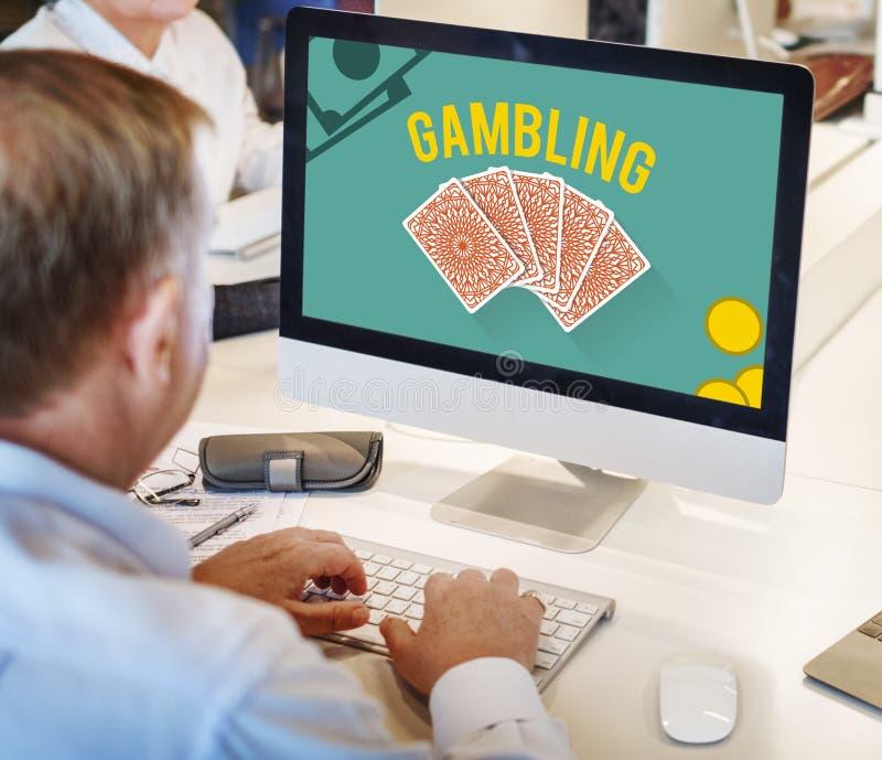 Het gokken het Concept van de het Risicoweddenschap van de Gelukpot stock afbeeldingen