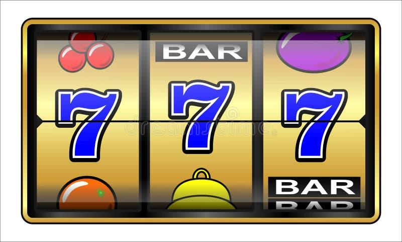 Het gokken illustratie 777 Geïsoleerd op wit royalty-vrije illustratie