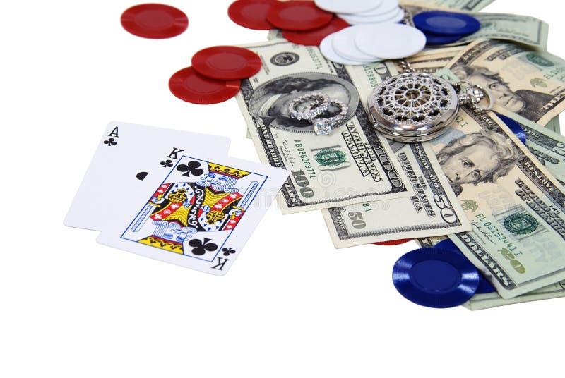 Het gokken nacht stock afbeelding