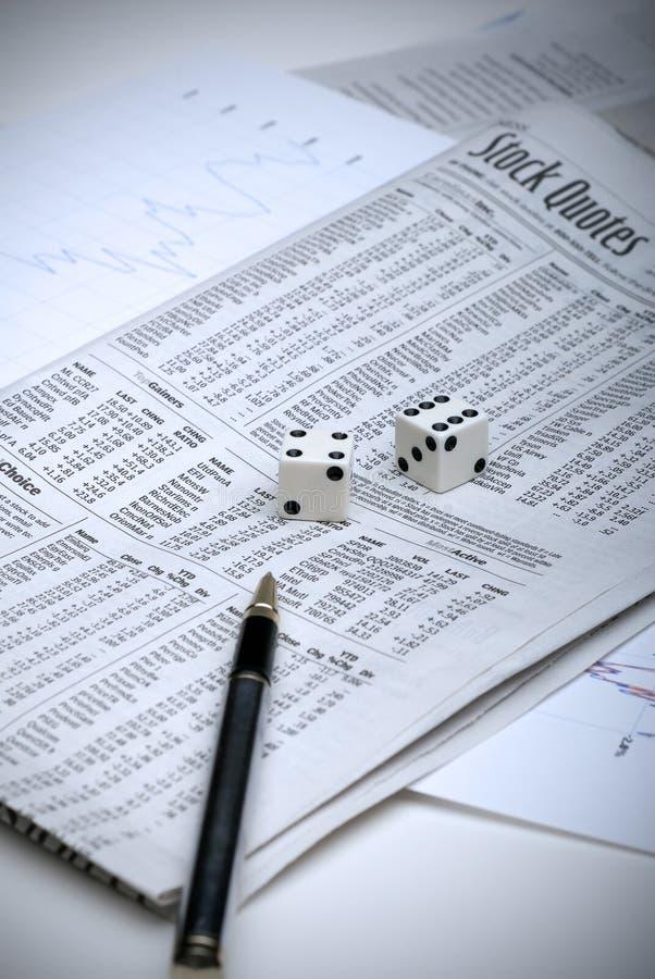 Het gokken op de effectenbeurs royalty-vrije stock afbeelding