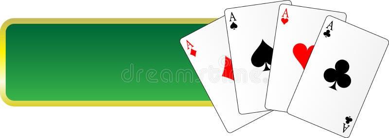 Het gokken van de banner royalty-vrije illustratie