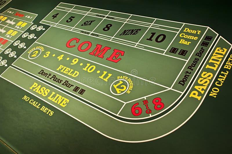 Het Gokken van het casino het Spel van de Lijst van de Craps van het Gokken royalty-vrije stock foto's