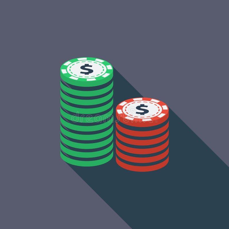 Het gokken van spaanders stock illustratie