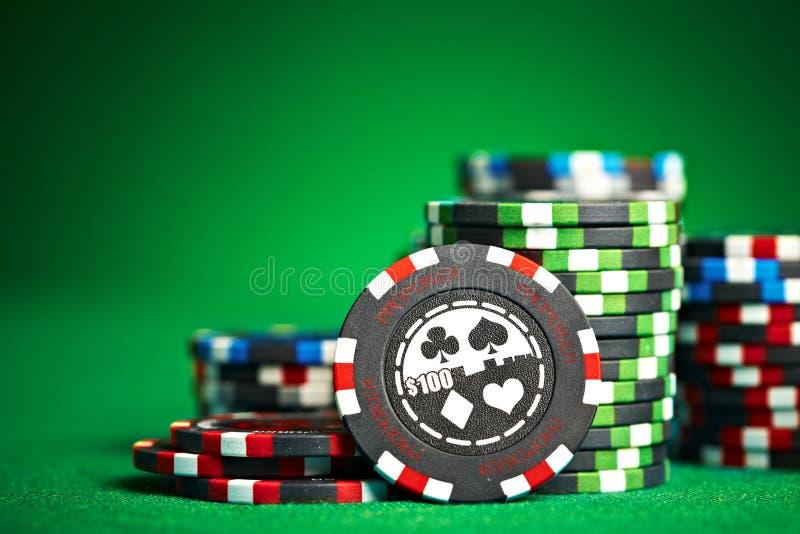 Het gokken van spaanders met exemplaarruimte royalty-vrije stock foto