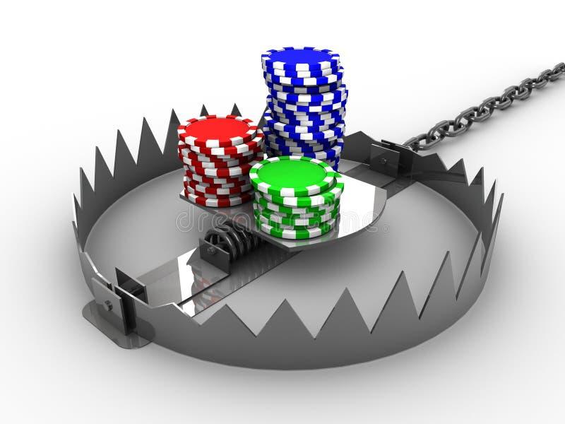 Het gokken verslaving stock illustratie