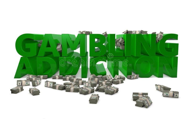 Het gokken Verslaving vector illustratie