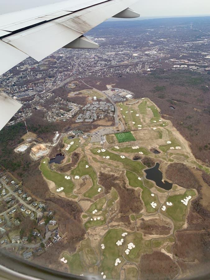 Het golfcursus van Boston stock afbeeldingen