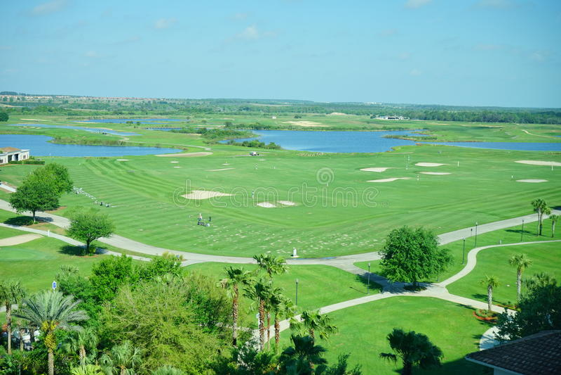 Het golfcursus van Florida en wolk royalty-vrije stock foto