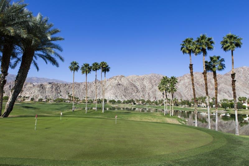 Het golfcursus van het Pgawesten, Palm Springs, Californië stock foto's